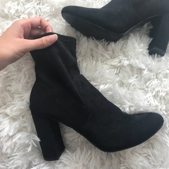 3832b80e5a59 a new day Shoes | Steve Madden Target Dupe Black Suede Boots Size 11 ...